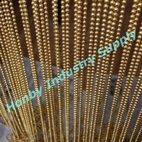 Decorative Elegant Gold Hanging Metal Bead Door Curtain