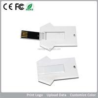 16GB Custom Credit Card USB Thumb Drive,Card USB Pendrive For Gift T-shirt shape