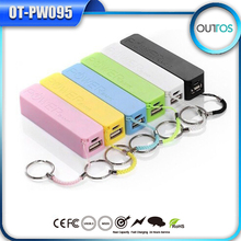 2600mah abs mobile power bank perfume style with key chain