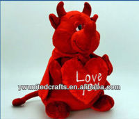 VALENTINE DEVIL with HEART Keel Toys SOFT PLUSH Toy 32cm