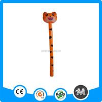 Plastic pvc inflatable animal stick tiger toy
