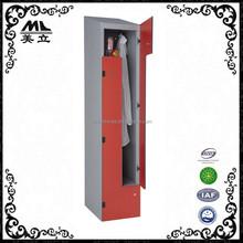 Luoyang Meili 2 tier 2 door used gym Compact z shape Locker