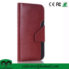 china wholesale suppliers cheap two-tone pu leather case flip cover for oneplus one
