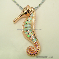 Sea Horse Animals Fire Opal Pendants Fashion Opal Jewelry , White Opal Pendant Accepted by paypal