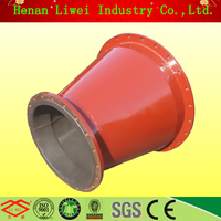 wear-resistant carbon steel rubber lined pipe