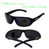 cheap soft rubber frame sports sunglasses offer OEM glass lens bicycle cycling sunglasses