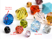 Machine cut crystal beads, rhinestone strass glass beads for decoration