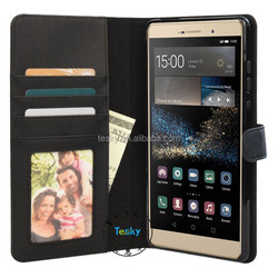 fancy magnetic pu leather case flip cover case for huawei p8 max