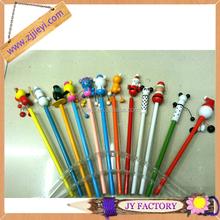 Office & school use cute animal shape wooden pencils mascot hb pencil