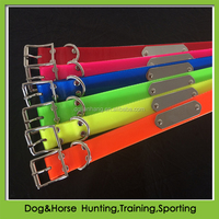 100% waterproof Fluorescent TPU dog collar with nameplate