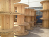 Factory Large Pine Wooden Cable Wire Spool, wood empty cable drum