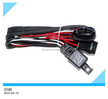 Hot-sale auto car of LED and HID relay and switch fog lamp lighting wire harness