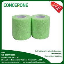 Fabricante de algodão confortável atadura elastoplast, não- tecido auto- adesivo médica bandagem elástica/atadura de crepe