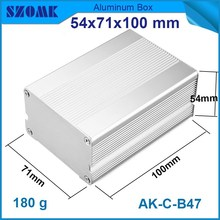 hot sales and best quality aluminium enclosure distribution in silver color extrusion box for power supply