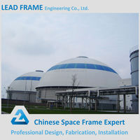 New design curved dome metal roofing steel space frame buildings