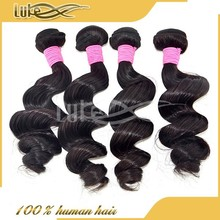 2015 Hot Selling !!! 100% Pure Brazilian Loose Wave Cheap Curly Human Hair Weaving
