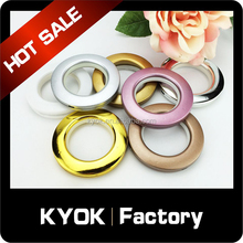 KYOK good quality ABS curtain rings wholesale, window decorative plastic curtain eyelet grommet, colorful plastic curtain parts