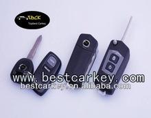 Korea style 2 button car flip key shell for mazda smart card key mazda key cover
