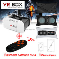 2015 Google cardboard VR BOX Version VR Virtual Reality Glasses + Smart Bluetooth Wireless Mouse / Remote Control Gamepad