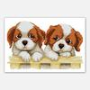 NKF Two puppies chinese cross stitch kit