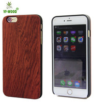 Natural smart back cover wood case for iphone 6s with pc