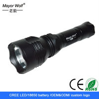 high power multifunction rechargeable hunting led torch light manufacture