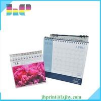 Printing unique desk calendar/desk flip calendars/standing desk calendar