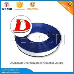 Professional Supply channel letter trim cap with pc strip