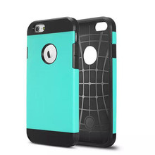 Double layer Plastic&TPU mobile phone armor case for Iphone 6