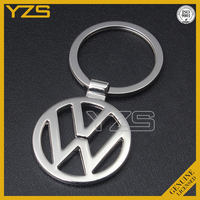 custom zinc alloy die casting metal keyring with car logo /key chain