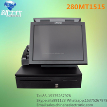 280MT1515 dual screen restaurant ordering terminal with software