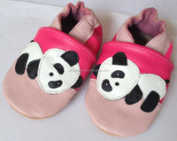 Top Quality Leather Baby Shoes Panda Design Accept OEM