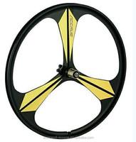 2015 New aero spoke wheel 700C 3 spoke bicycle wheel made in china