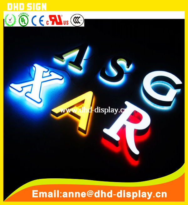 Custom acrylic frontlit led channel letter sign
