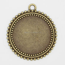 2015 Top quality fashion jewelry new setting tray , 25mm cabochon tray, Blank Trays Pendant Bezel Setting RS-1016