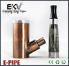 Chrome and Gold battery mod e-pipe mod for Wholesale