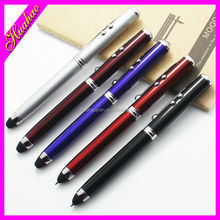 Promotional LED Ballpoint Pen stationary led flashlight pen with highlighter for promotional gifts