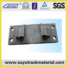 Railway cast iron sole plate for Rail construction project