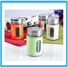 Stainless Steel Condiment Pot Set/Seasoning Bottle Set with Rack
