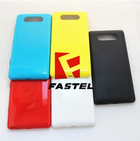 High Quality For Nokia Lumia 820 windows New Mobile Phone original back housing cover case battery door cover + Side Button