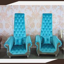 High back king royal chair , high back love seat throne hotle chair