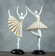Wholesale Italy Ballet Poly Resin Dancing Girl Statue With White Interior Home Decor Wedding Decor Folk Art Craft