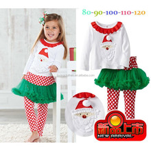 High Quality Childrens Boutique Clothing Set Christmas childrens christmas clothing for girls