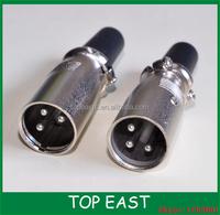 XLR Male 3PIN Microphone Connector-Wholesale 1pair male +female XLR Connector