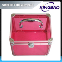 Tiered reliable cosmetic case,cheapest color cosmetic case,Acrylic panel aluminum cosmetic case