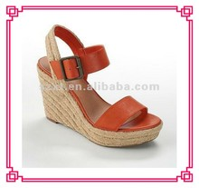Summer fashion hemp rope wedge heel sandals