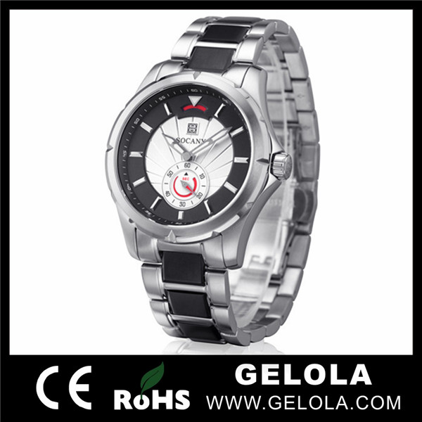Stainless Steel Back Men Watch Vogue Watch,Custom Watch for Men, Quartz Stainless Steel Watch Water Resistant