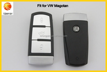 3 original del botón reemplazo para volkswagen magotan coche cubierta de la llave inteligente cáscara dominante auto
