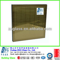 Golden reflective coated insulating and tempered glass for curtain wall & buildings with as 2047 & 3C (ccc) standards
