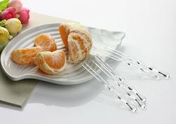 disposable plastic fruit fork